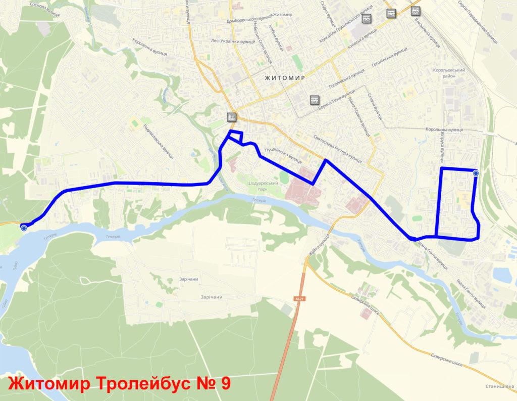 Тролейбус 9 Житомир
