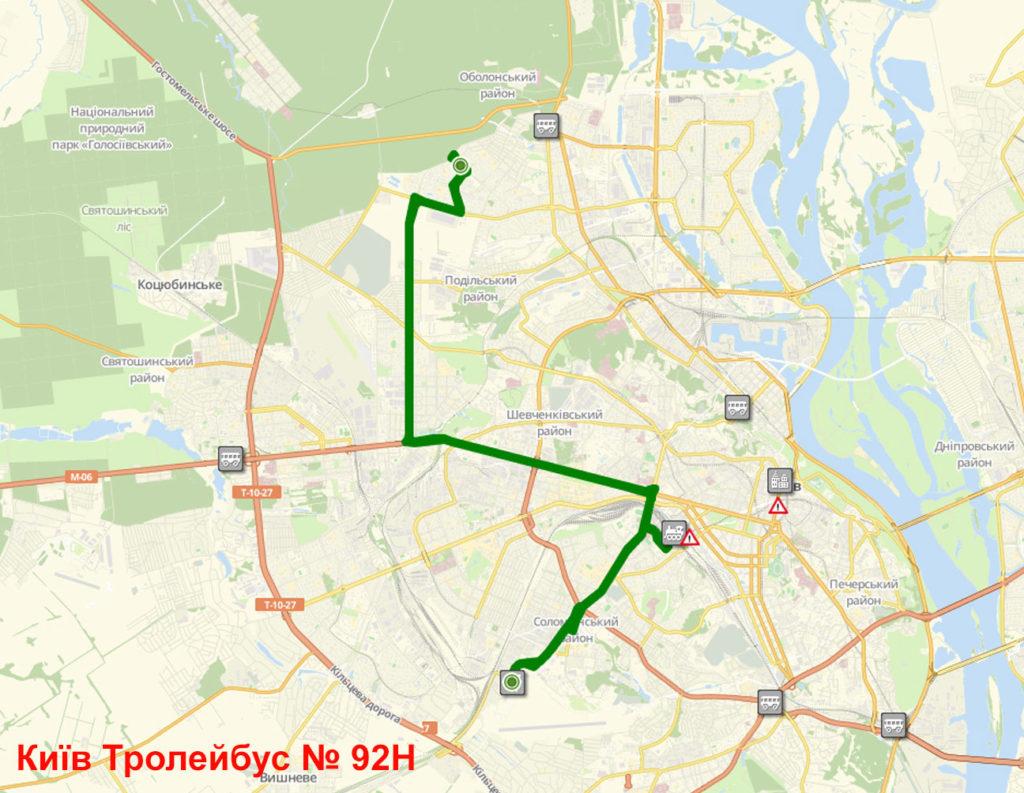 Тролейбус 92Н Київ
