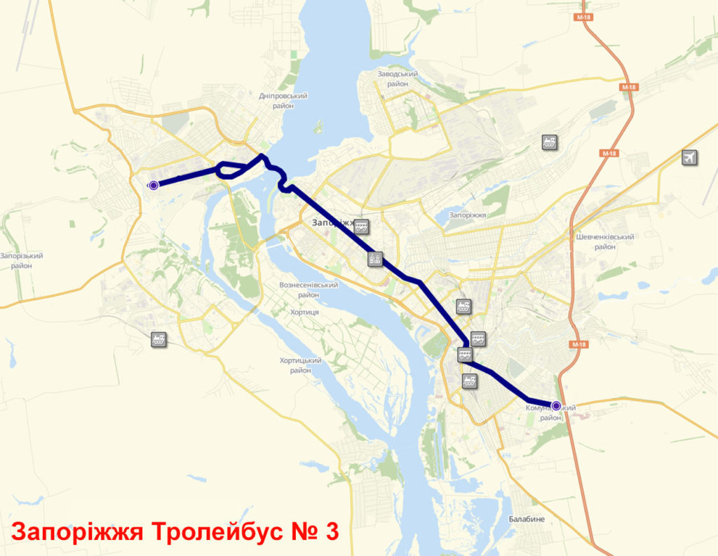 Тролейбус 3 Запоріжжя