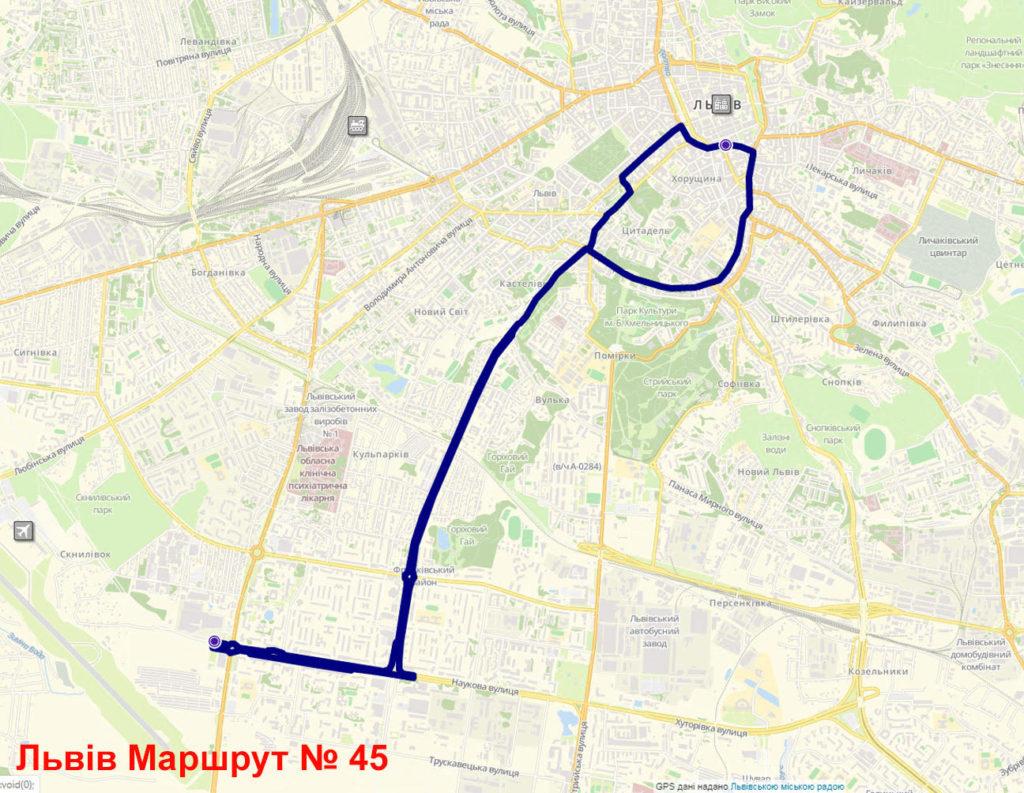 Автобус 45 Львів