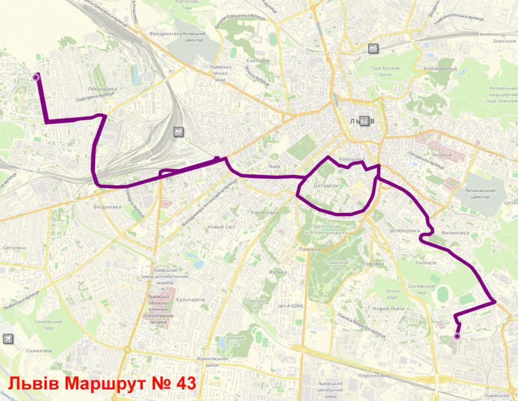 Маршрутка 43 Львів