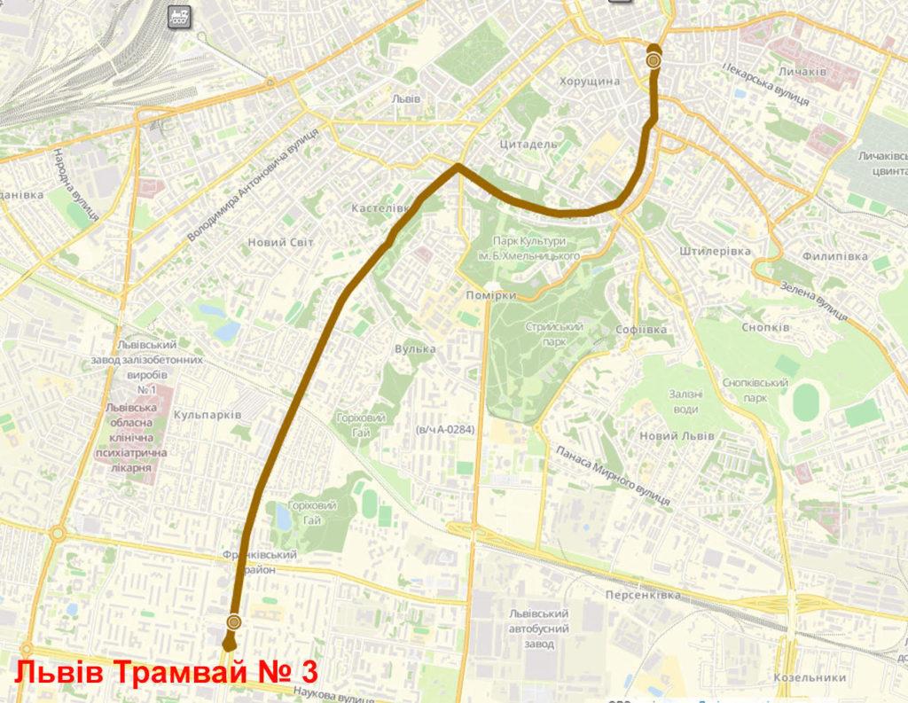Трамвай 3 Львів