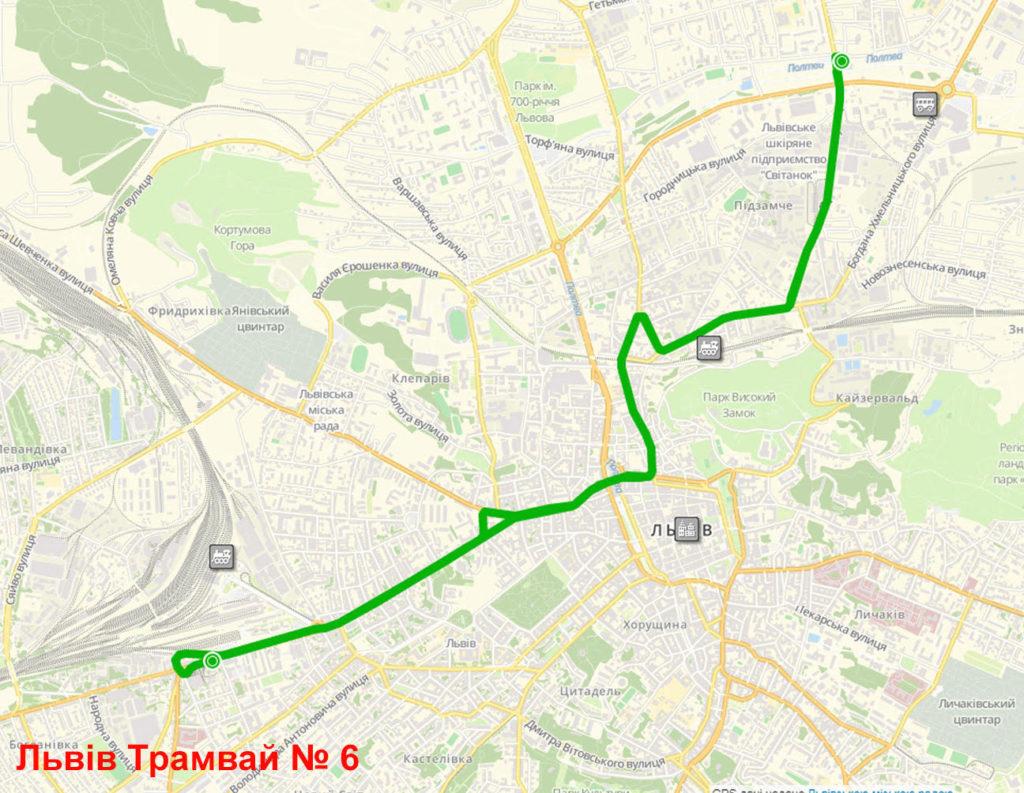 Трамвай 6 Львів