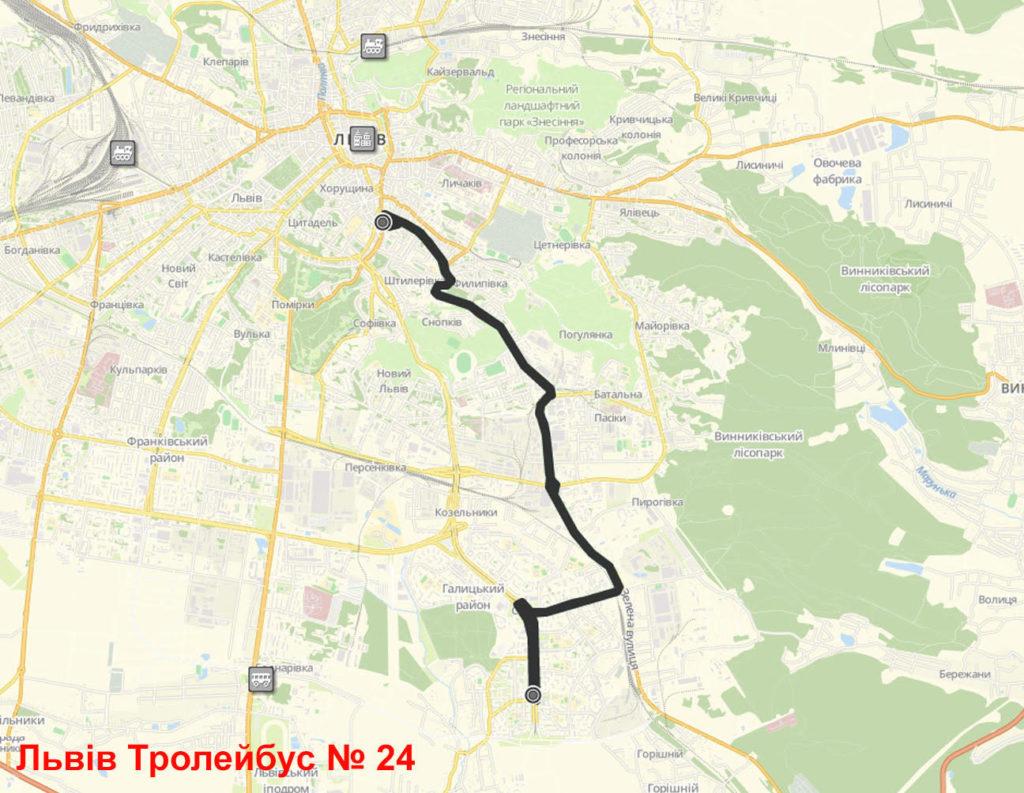 Тролейбус 24 Львів