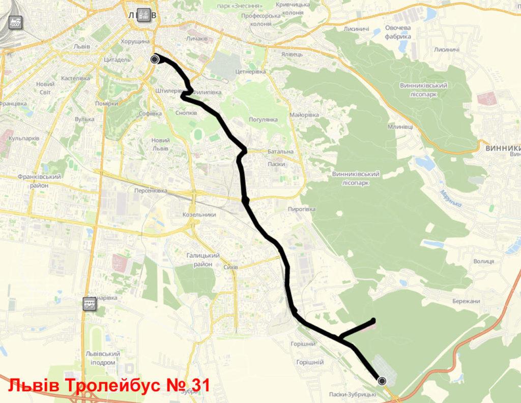 Тролейбус 31 Львів