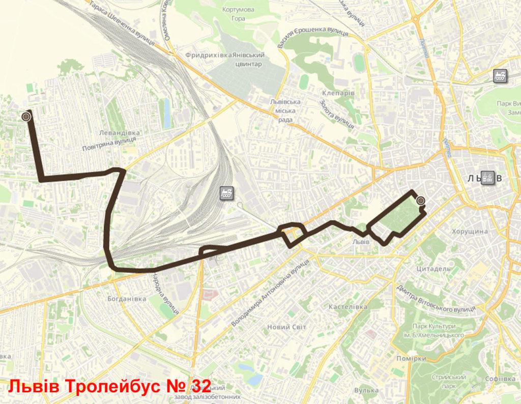 Тролейбус 32 Львів