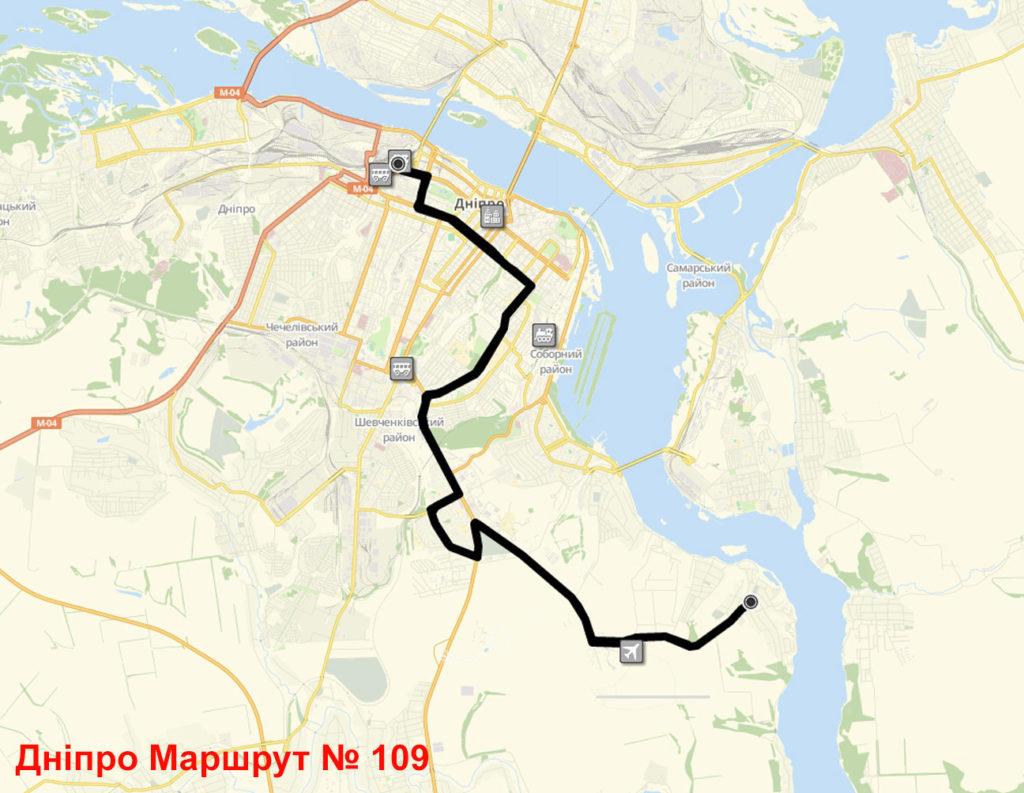 Маршрутка 109 Дніпро