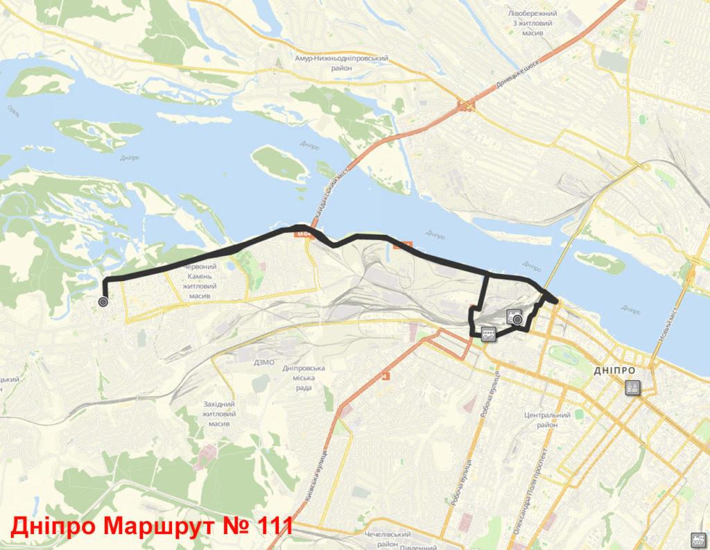 Маршрутка 111 Дніпро