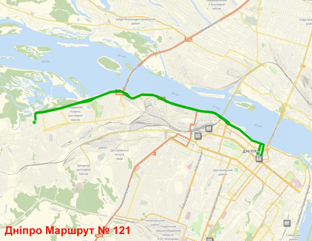 Маршрутка 121 Дніпро