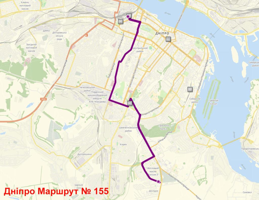 Маршрутка 155 Дніпро