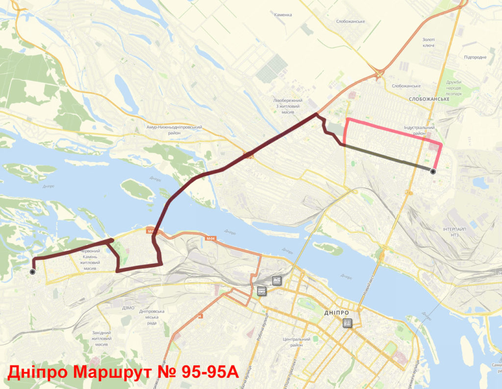 Маршрутка 95-95А Дніпро