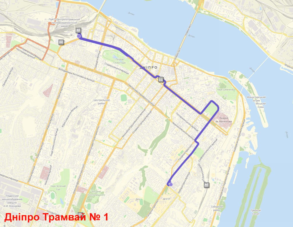 Трамвай 1 Дніпро