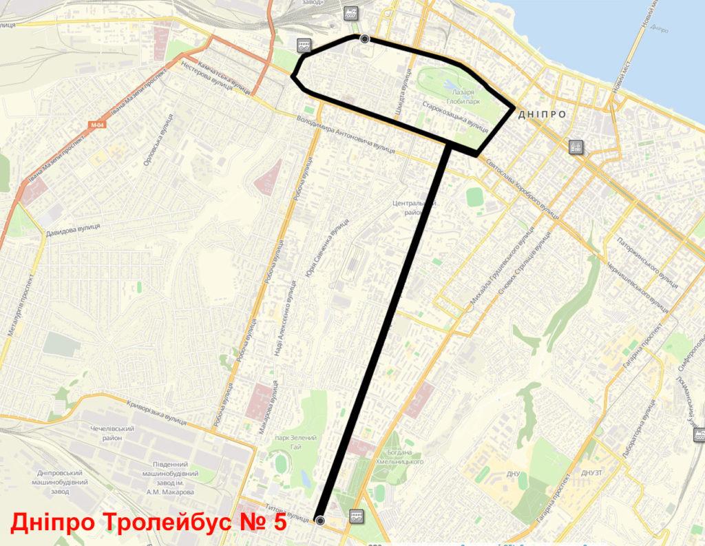 Тролейбус 5 Дніпро