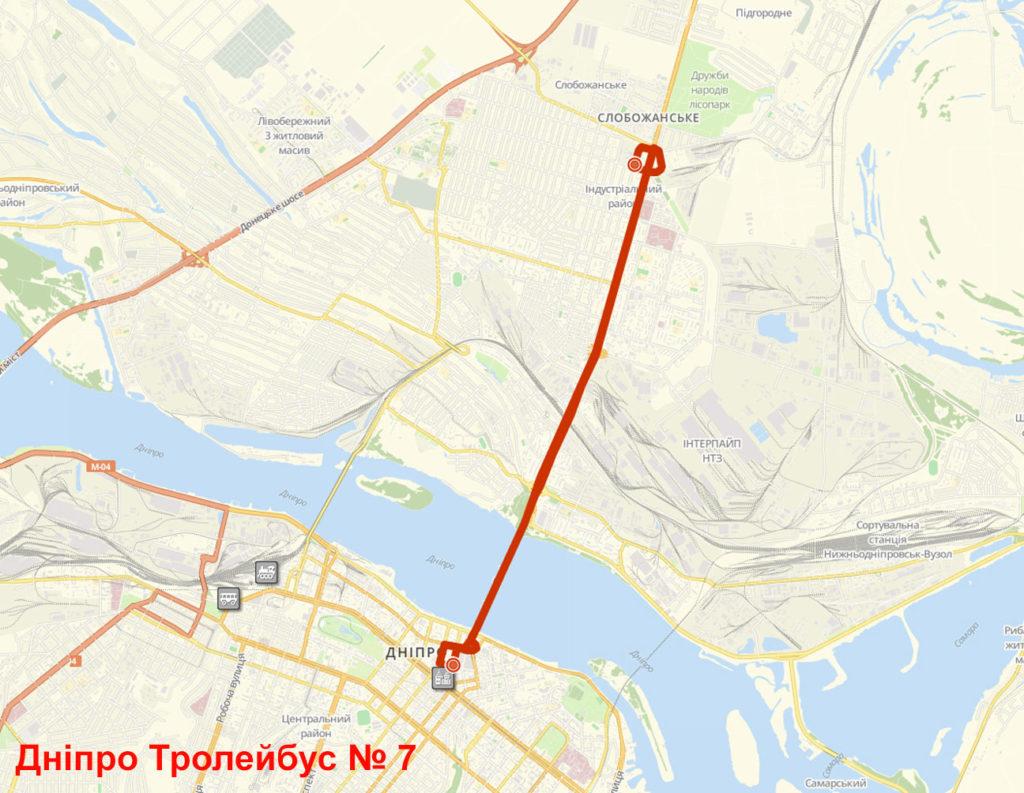Тролейбус 7 Дніпро