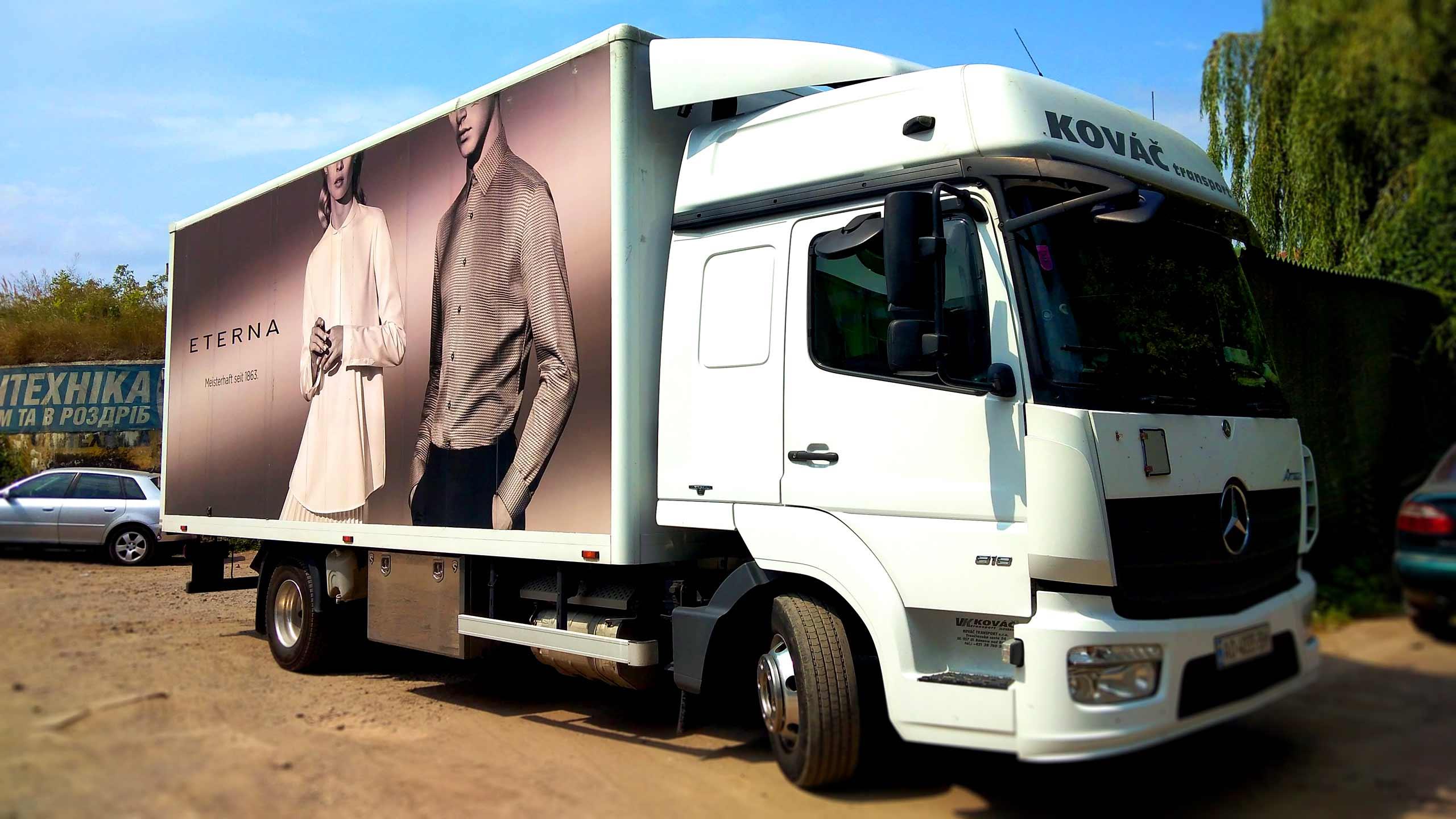 брендирование грузовика